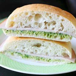 Turkey Sandwiches with Allergen Free Pesto