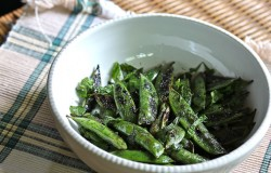 Grilled Snap Peas in Mint Recipe