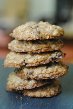 Oatmeal Cookies with Chocolate Dried Cranberries and Toasted Pecans