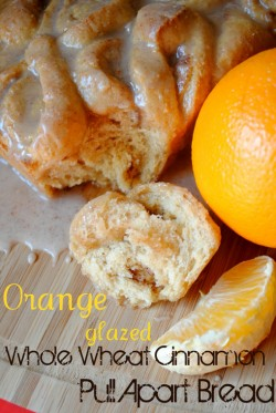 Orange Glazed Whole Wheat Pull Apart Bread