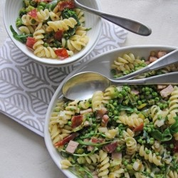 Peas Canadian Bacon Prosciutto Pasta Recipe