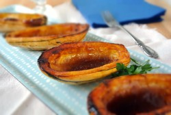 Roasted Delicata Squash with Hatch Butter Recipe