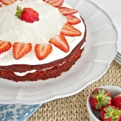 Strawberries and Cream Red Velvet Cake Recipe