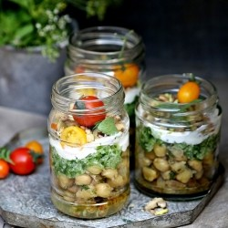 Vegetarian Parfaits in Jars Recipe