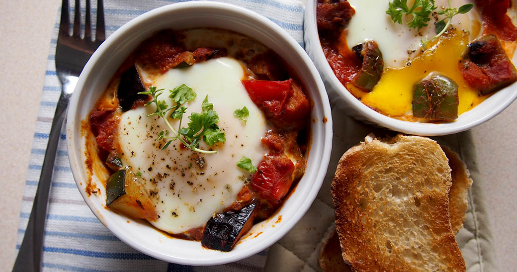 Baked Eggs with Ratatouille Recipe
