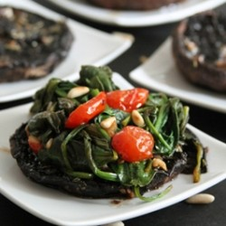 Balsamic Portobellos with Wilted Spinach