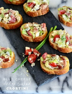 Blue Cheese Wedge Salad Crostini