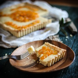 Candied Kumquat Cream Cheese Tart