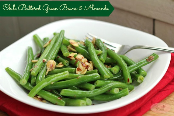Chili Buttered Green Beans and Almonds