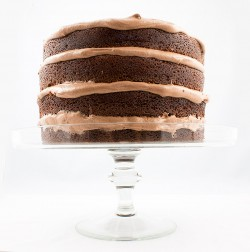 Chocolate Buttermilk Layer Cake with Chocolate Cream Cheese Frosting