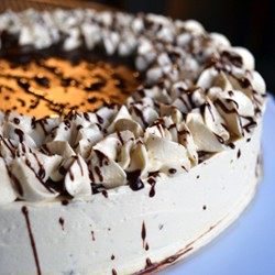 Chocolate Cake with Salted Caramel Buttercream Frosting