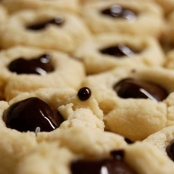 Chocolate Thumbprint Cookies