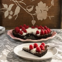 Chocolate White Chocolate Raspberry Pie in Oreo Crust Recipe