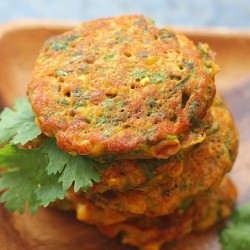 Corn and Rice Curry Pancakes Recipe