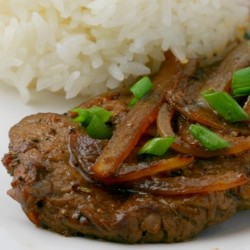 Filipino Bistec with Sauteed Onions