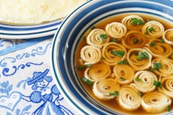 Flaedlesuppe German Crepe Soup