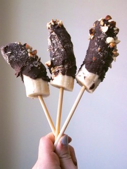 Frozen Chocolate Covered Bananas Recipe