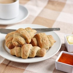 Garlic Rosemary Whole Wheat Yogurt Crescent Rolls