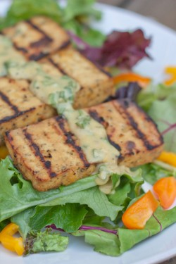 Grilled Lemon Basil Tofu Recipe