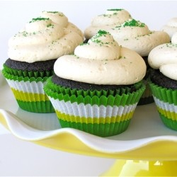 Guinness Chocolate Cupcakes with Baileys Truffle Centers and Buttercream