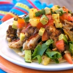 Hatch Chile Tequila Chicken Tostada Recipe
