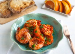 Jumbo Shrimp and Orange Charmola Salad