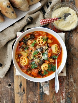 Minestrone with Borlotti Beans Fennel and Kale Recipe