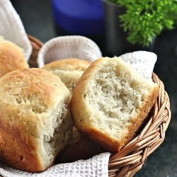 No Knead Yeasted Banana Rolls