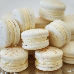 Nutmeg Macarons with Vanilla Buttercream Recipe