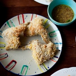 Panko Crusted Chicken with Mustard Sauce Recipe