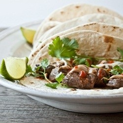 Peanut Butter Steak Tacos with Sriracha Recipe