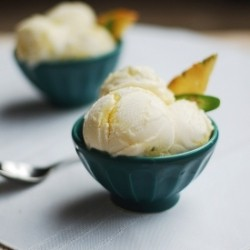 Pineapple Serrano Chili Pepper Swirl Ice Cream Recipe