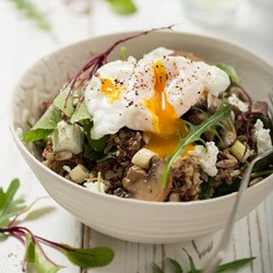Quinoa and Poached Egg Salad Recipe