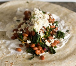 Rainbow Chard Bacon Burritos Recipe