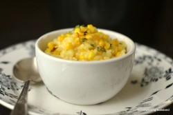 Roasted Corn and Saffron Risotto