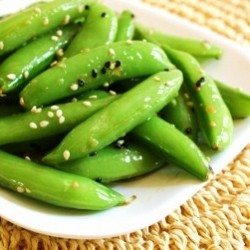 Sesame Ginger Sugar Snap Peas
