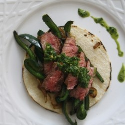 Skirt Steak Fajitas with Chimichurri Recipe