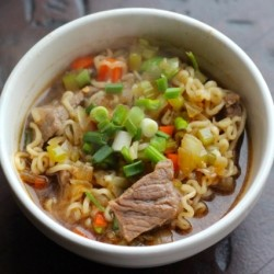Spicy Beef and Ramen Soup