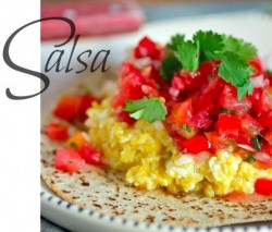 Tomato Salsa with Scrambled Eggs Recipe