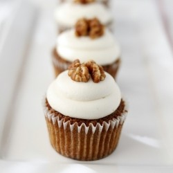 Ad Hoc Carrot Cupcakes with Milk Cream Cheese Frosting