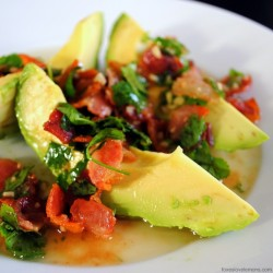 Avocado with Warm Bacon Dressing Recipe