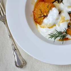 Caraemlized Oranges with Rosemary and Italian Vermouth Gancia