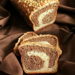 Chocolate Mocha Swirl in Vanilla Wheat Bread
