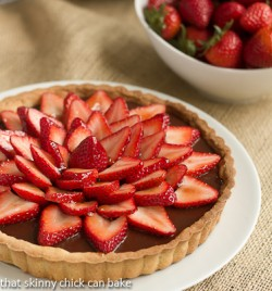 Chocolate Strawberry Tart Recipe