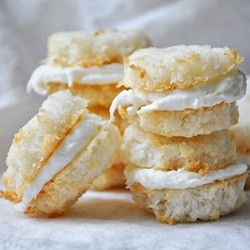 Coconut Cream Filled Macaroons