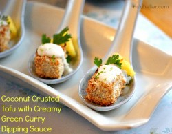 Coconut Crusted Tofu Appetizers