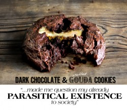 Dark Chocolate and Gouda Cookies Recipe