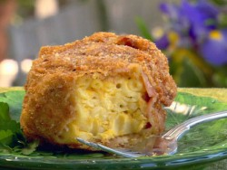 Deep Fried Bacon Wrapped Mac n Cheese from Paula Deen