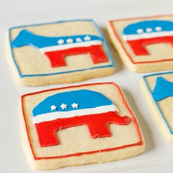 Elephant and Donkey US Presidential Election Cookies