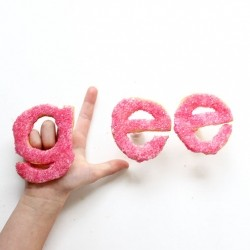 Glee Shaped Sugar Cookies